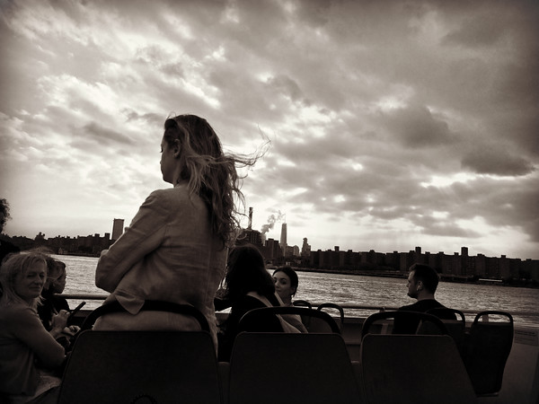 Lady on the Ferry