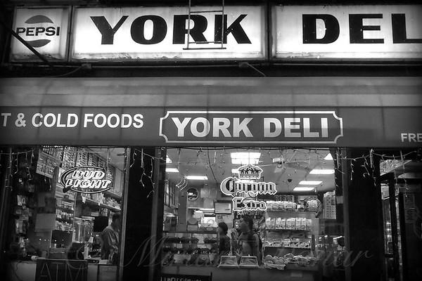 New York City at Night - Vintage Deli
