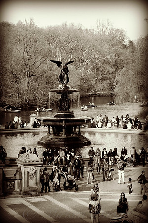 Bethesda Fountain in Central Park New York