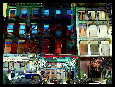 Walkups and Windows - Downtown - Picturesque New York City