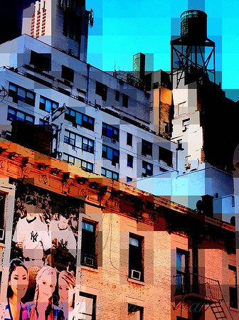 Baseball is Coming - Watertower and Sports Poster - Old Buildings and Architecture of New York City