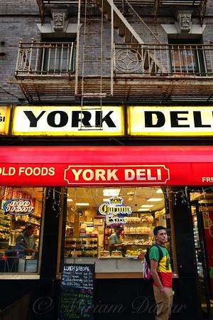 Vintage Deli, Windows and Fire Escapes No. 2 - New York City Street Scene