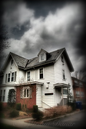 House with Brick Front - American Gothic - Suburbs of New York City