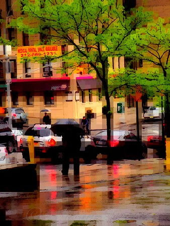 Reflections - New York City in the Rain