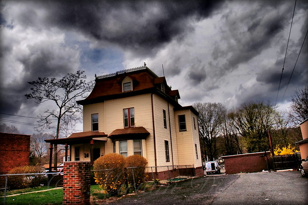 House with Storm Approaching - Suburbs of New York City