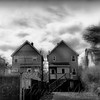 Two Old Houses - The Suburbs of New York - light version