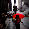 The Red Umbrella - New York City Street Scene
