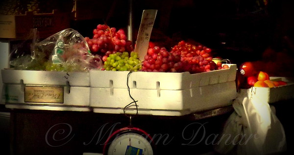 Grapes with Weighing Scale - Street Vendors of New York City