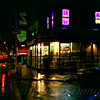 Corner in the Rain - Large - The Lights of New York