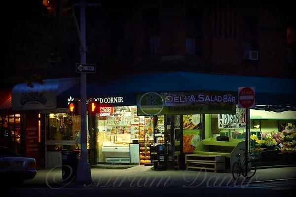 Corner Shops  - New York City at Night