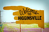 Welcome to Higginsville - Signs like this one point the way for travelers making their way through central Lafayette County. This sign is north of town on Hwy 13. There are two others on I-70 and one on Hwy 20.