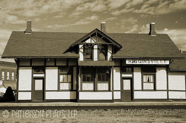 Higginsville Depot - The train depot long served as a source of travel and news with passengers and postal service using the rail line daily.  While no longer an operating rail station, the depot has been restored and is now a museum.