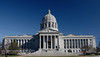 Missouri State Capitol Building - A view of the front of the Missouri State Capitol Building in Jefferson City.
