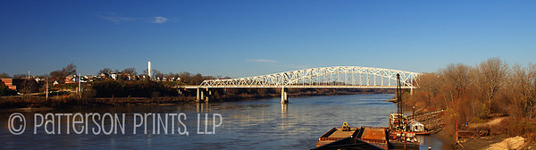 "Bridge Over Muddy Waters - The Hwy 54/63 bridge over the Missouri River, aka ""Muddy Mo"", leading to Missouri's capitol, Jefferson City."