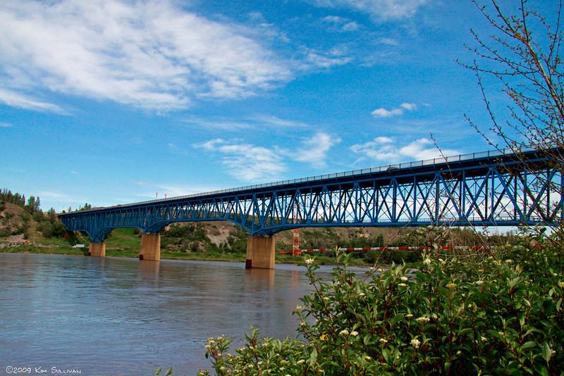 Bridge over Peace river, Taylor, BC