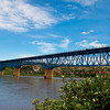 Bridge over Peace river, Taylor, BC