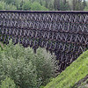 Wooden railway bridge, Pouce Coupe, BC