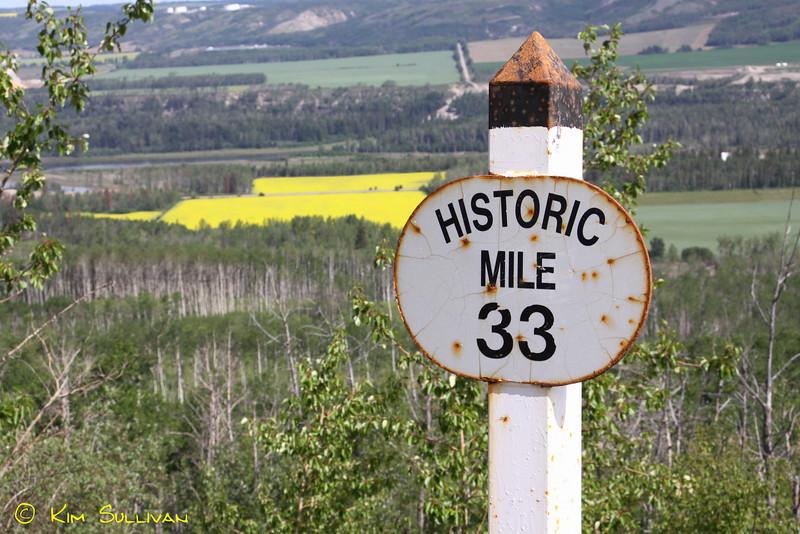 Vista on south Taylor hill, Alaska Highway.