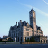 Union Station, Nashville, TN.  Once the local terminal for both passenger and freight trains, it's now a luxurious hotel.