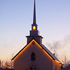 Community church at dawn, Dawson Creek BC