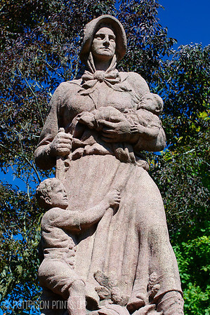 Madonna of the Trail - One of twelve similar statues throughout what was the frontier celebrating the strength and bravery of pioneering women.  This statue was presented to Lexington by the Daughters of the Revolution in 1928.