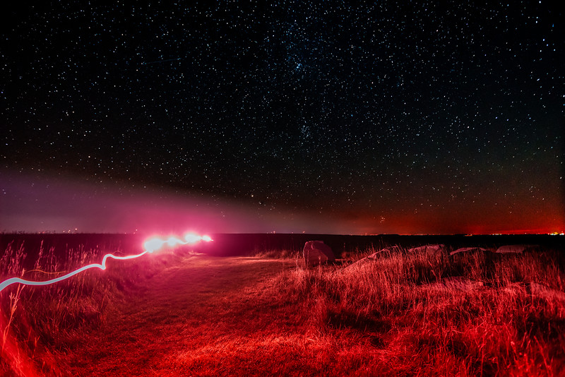 Light Painting, Mars Light Painting, Martian Landscape Lighting, Touch the Sky Prairie