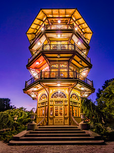 Patterson Park Pagoda at Blue Hour