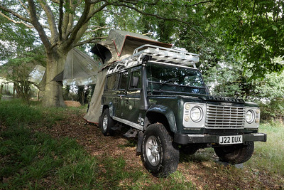 Landrove Defender Safari Glamping Experience at  Elvey Farm, Kent