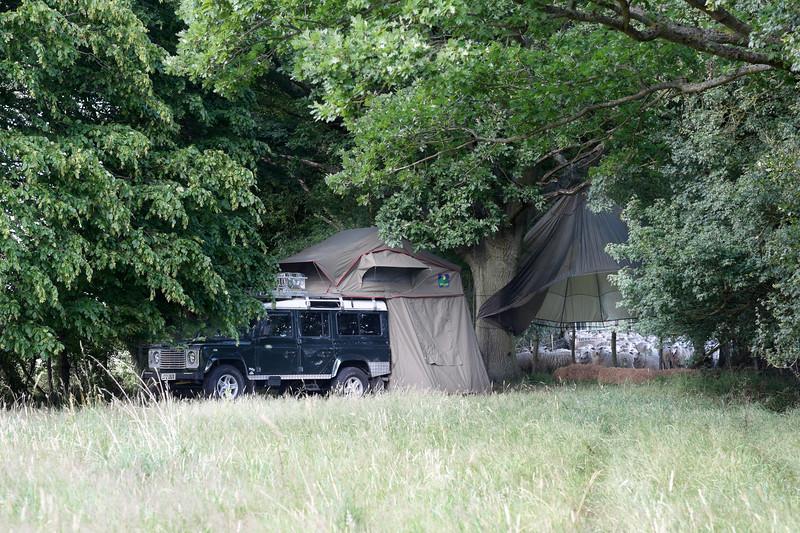 Landrove Defender Safari Glamping Experience at  Elvey Farm, Kent