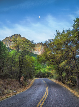 Moon Over Cave Creek Canyon