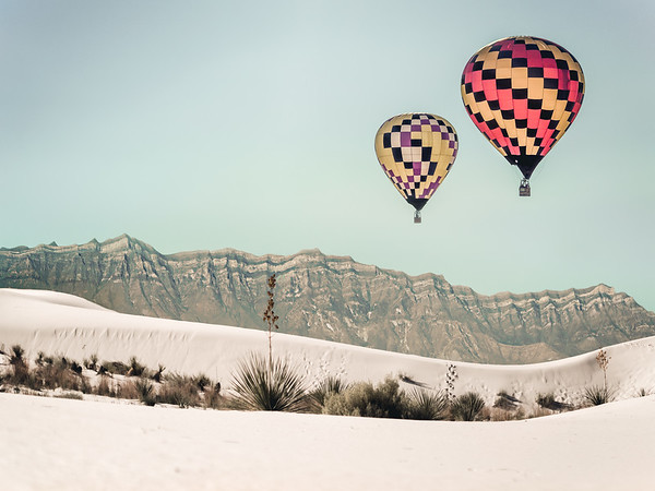 Floating Over White Sands