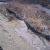 Silt fence filled and ready to fail.  Northwest quadrant of I-495/Route 236 interchange. 16 Jan 2013