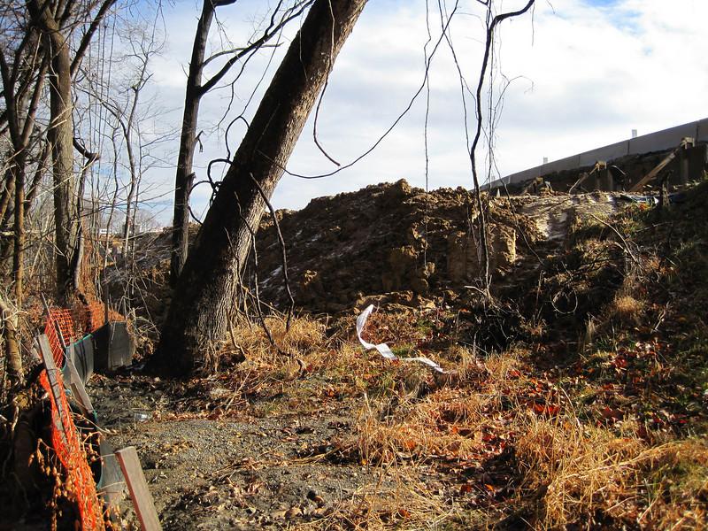 Unconsolidated soil piles.  Wakefield Park in northwest quadrant of I-495/Braddock Rd interchange.  19 Jan 2011