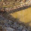 Sediment deposits in tributary stream from upstream HOT construction.  Wakefield Park in northwest quadrant of I-495/Braddock Rd interchange. 19 Jan 2011