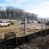 Vehicles tracking mud onto roadway.  Wakefield Park in northwest quadrant of I-495/Braddock Rd interchange. 19 Jan 2011