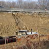 Gully forming in unprotected sheer cut slope. Northeast quadrant of I-495/Braddock Rd interchange. 16 Feb 2011
