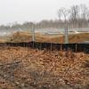 Unconsolidated soil piles.  Audrey Moore Rec Center.  28 Feb 2011