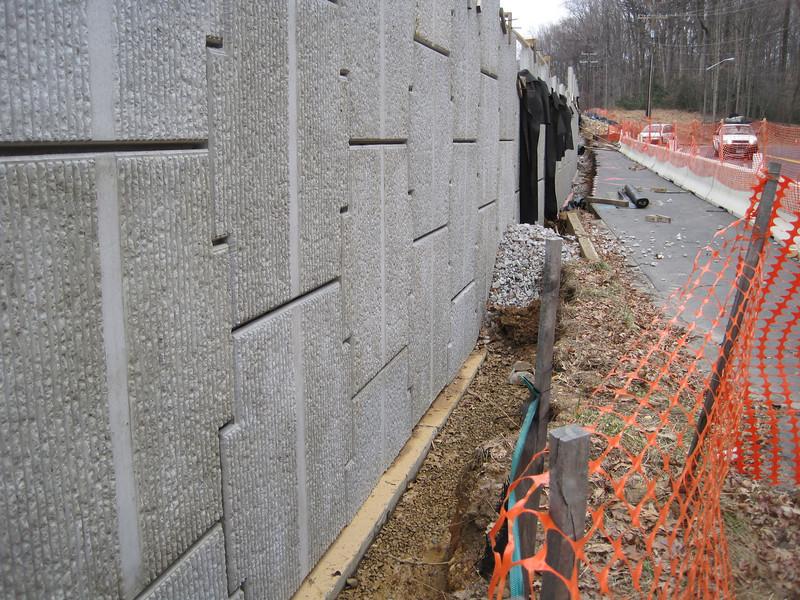 New sound wall.  Audrey Moore Rec Center.  9 Mar 2011