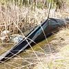 Abandoned silt fence  <br /> 38.833186, -77.219857