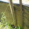 Holes in silt fence