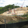 Bridge constriction over Accotink Creek, Fairfax County Parkway extension construction 091009