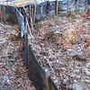 Failing silt fence.  Outside I-495 north of I-495/Rt 236 interchange.  10 Nov 2010