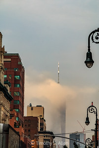 World Trade Center Shrouded in Fog