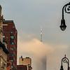 World Trade Center Shrouded in Fog