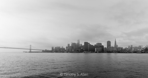 A Cityscape in Black and White