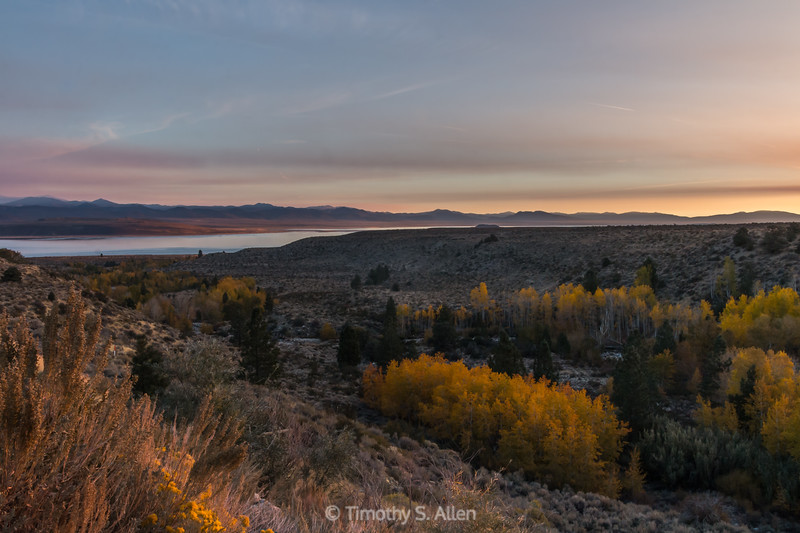 Sunrise Over Mono Lake and Lee Vining Canyon