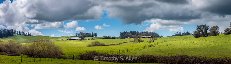 Unsettled Weather Above Green Pastures