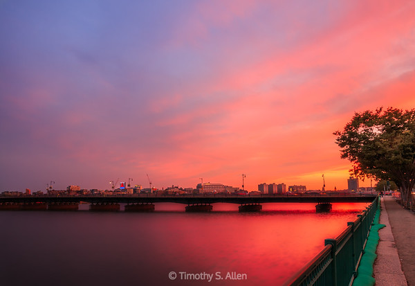 Vivid Sunset on the Charles River