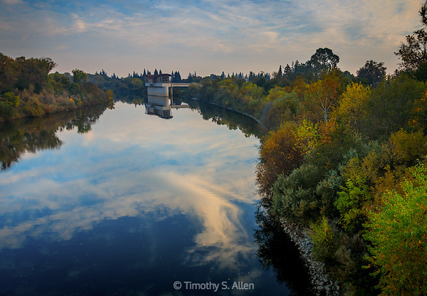 American River Reflecting Clouds