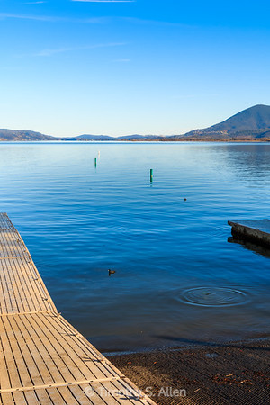 Clear Lake in Blue